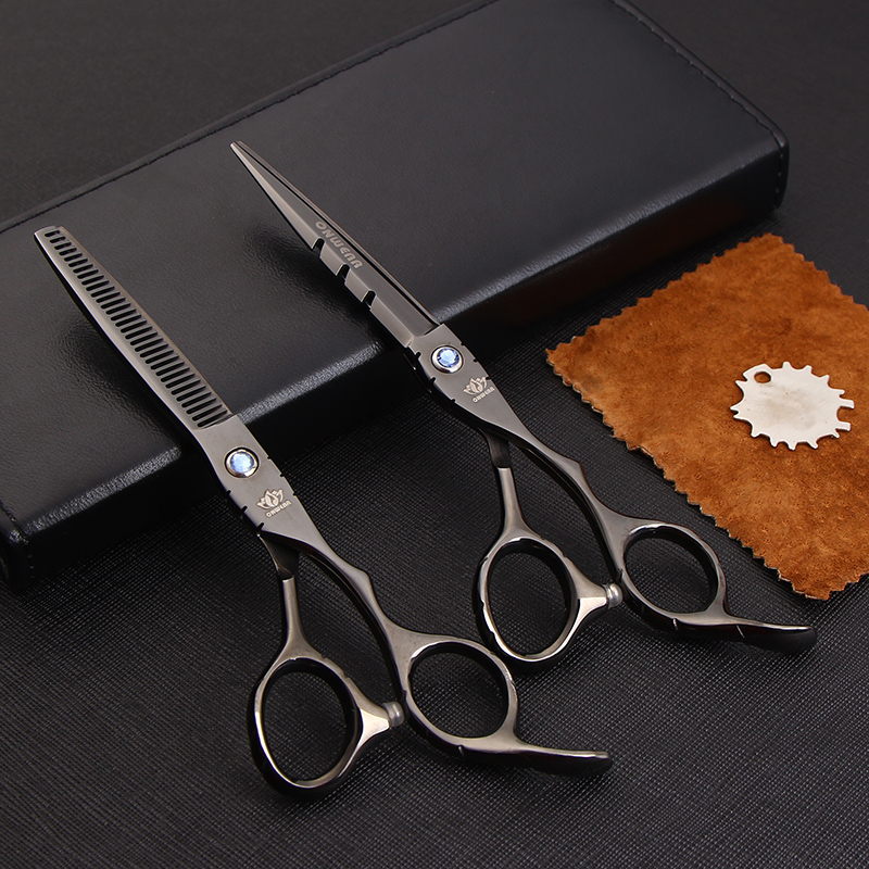 Professional Hairdresser Scissors 6 inch Hair Cutting Shears Set Barber Hairdressing ciseau coiffure with pouch(China (Mainland))