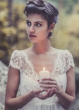 Buy Laure de Sagazan Vintage Wedding Dresses 2016 V Neck Boho Chiffon Lace Beach Wedding Dress Elegant Bridal Gowns for $126.65 in AliExpress store