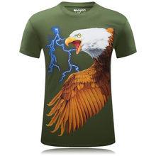 Мужские футболки, мода 2018, забавная Футболка с принтом орла, Роскошная 3D футболка Homme Camisetas Hombre, большие размеры 5XL 6XL, одежда в стиле хип-хоп(China)