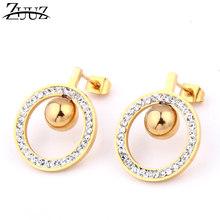 ZUUZ stud bông tai 2018 đồ trang sức thời trang phụ kiện thép không gỉ cho phụ nữ bạc đồ trang sức vàng earing brincos nữ của phụ n(China)
