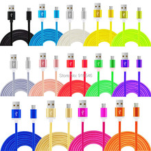 Buy 100pcs Metal Colorful New 1M Charger Fabric Nylon Micro USB Cable Charging cable Braided Samsung HTC Android Phone for $70.00 in AliExpress store