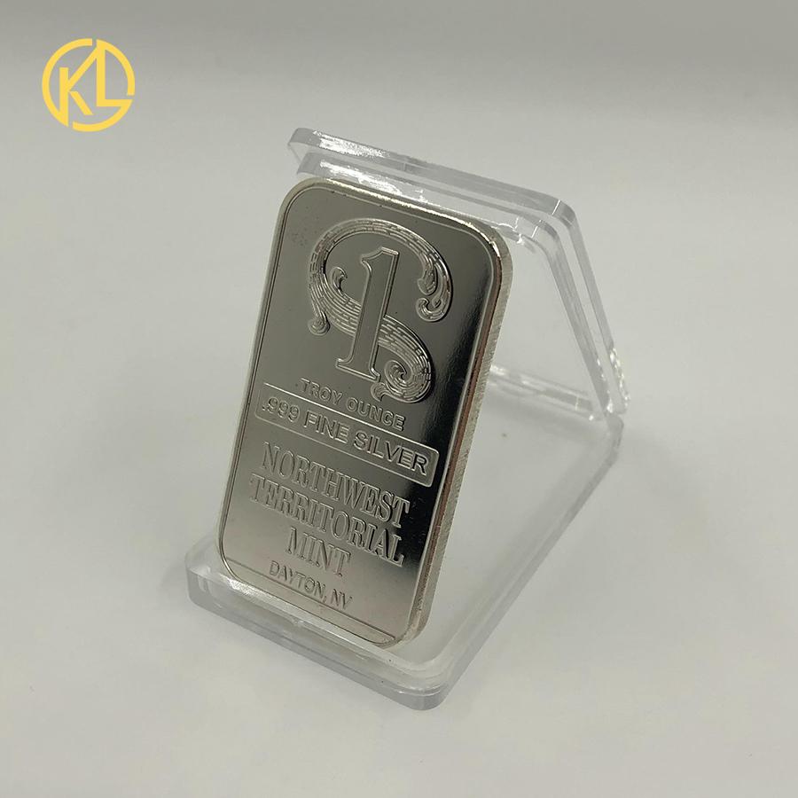 1 gram 1g USA Ship .999 Pure Silver Gold Plated Bullion Bar Ag