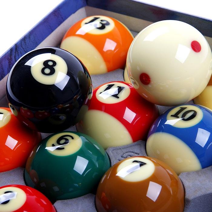 Set of Complete 16pcs Resin Billiard Pool Snooker Balls - Free Shipping 1 Set(China (Mainland))