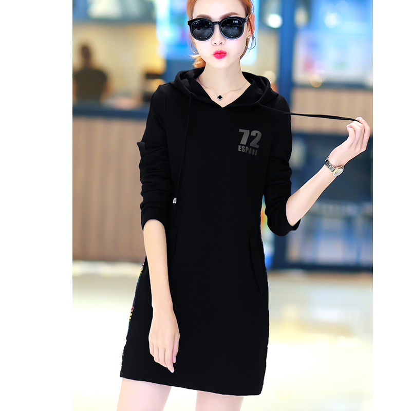 New Women Tops Tees Autumn Winter Sweatshirt Fashion Hoodie Women's Casual Solid Color Pullove Hooded Female Long Hoodies S23501