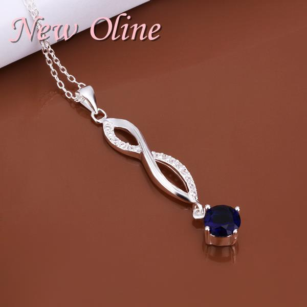 N486 Elegant women accesories pendant neckalce for 925 sterling silver jewelry,charming design crystal necklace jewelry(China (Mainland))