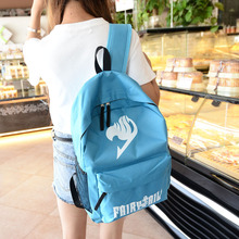 Korean animation backpack oxford female Travel Backpacks male fairy tail bag middle school students bp0473(China (Mainland))