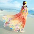 2016 Multi Wear Fashion Women Swim Cover Up Chiffon Silk Scarf Pareos Summer Beach towel Sexy