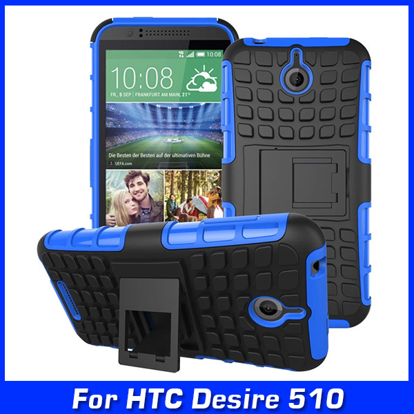 Luxury Armor Hybrid TPU Shock Proof Silicone And Hard Shell Cell Phone Case Cover For HTC Desire 510 D510 Case Back Cover & Gift(China (Mainland))