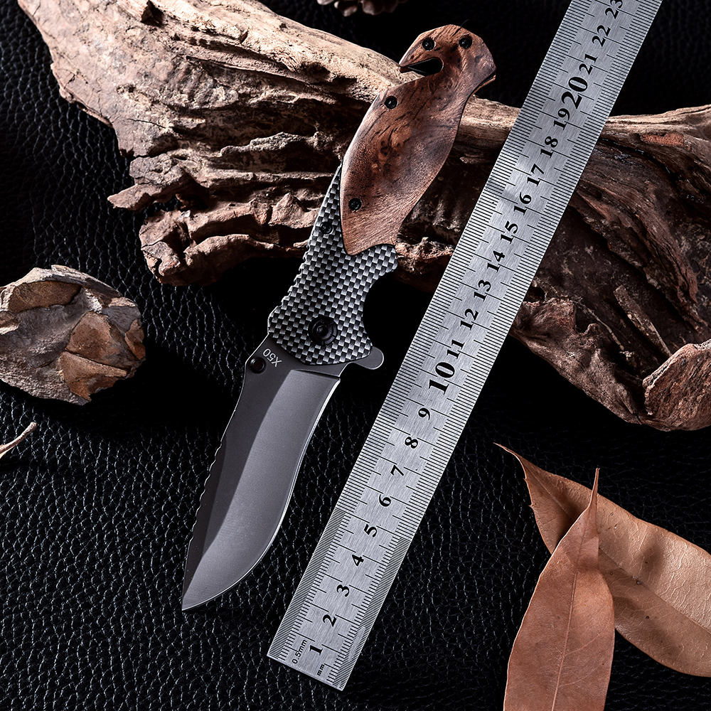 X50 D2 Steel Combat Camping Tactical Knives High Quality Outdoor Wood Handle Cold Steel Survival Hunting Knife Facas Taticas(China (Mainland))