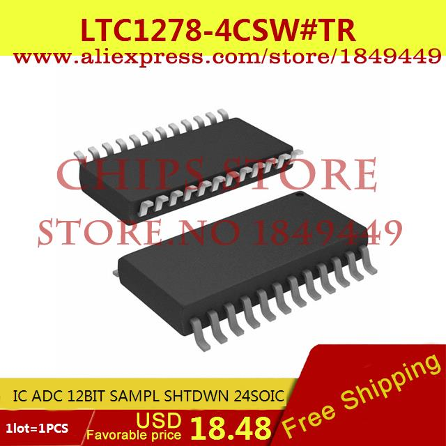 Free Shipping Electronic Components Original LTC1278-4CSW#TR IC ADC 12BIT SAMPL SHTDWN 24SOIC LTC1278-4CSW 1278 LTC1278 1pcs(China (Mainland))