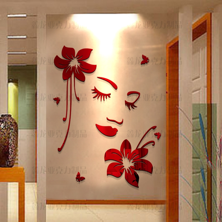 Romantic 3d Three Dimensional Acrylic Wall Stickers