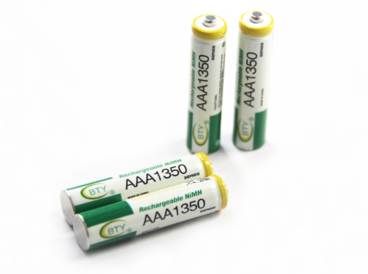 2015 Hot 1 2V AAA Rechargeable Battery 1350mAh Baterias 4 X BTY NI MH Rechargeable 3A