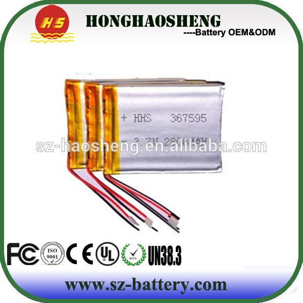 367595 rechargeable radio battery for tablet 2800mah recharge battery lipo+3.7v+2800mah(China (Mainland))