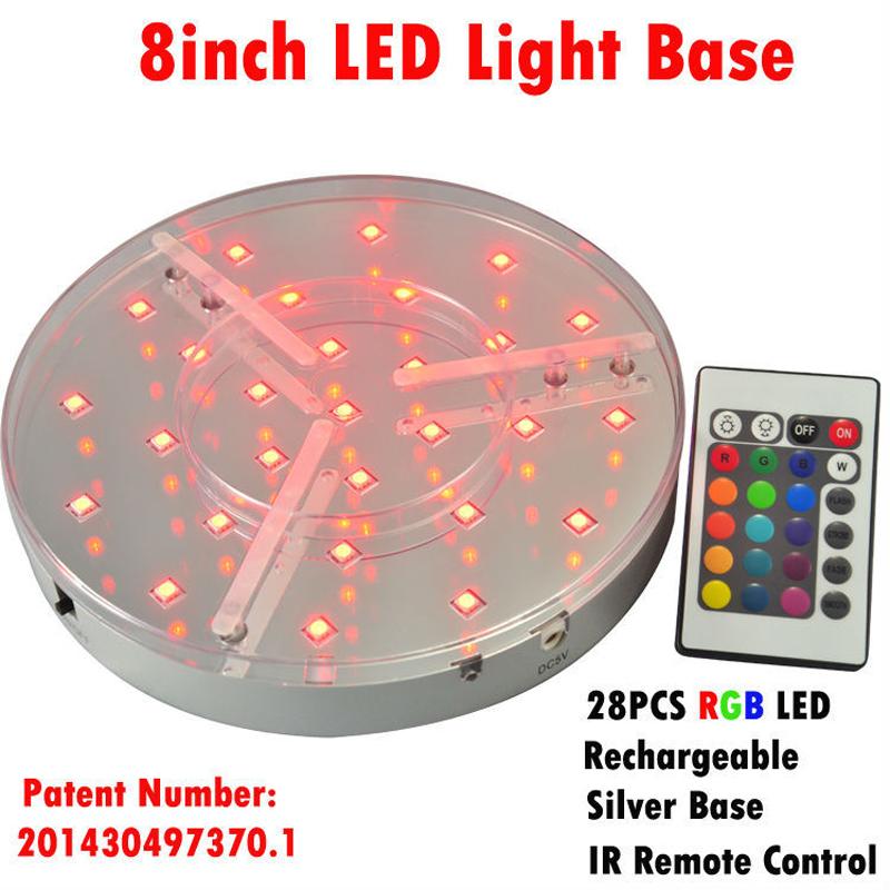 8inch Led Light Base wedding centerpieces R