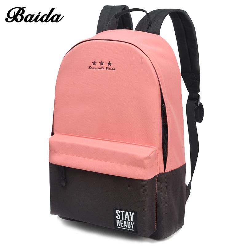 Fashion School Backpack Women Children Schoolbag Back Pack Leisure Korean Ladies Knapsack Laptop Travel Bags Teenage Girls
