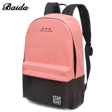Buy Fashion School Backpack Women Children Schoolbag Back Pack Leisure Korean Ladies Knapsack Laptop Travel Bags Teenage Girls for $17.11 in AliExpress store