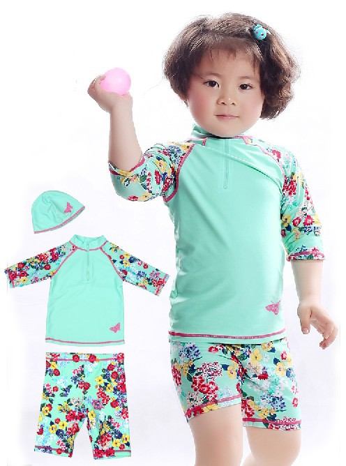 2 14 years floral pattern swimwear for girls colorful ...