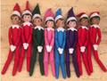 DHL EMS 30pcs The Elf on the Shelf Plush Dolls Boy Girl Figure Toys A Christmas