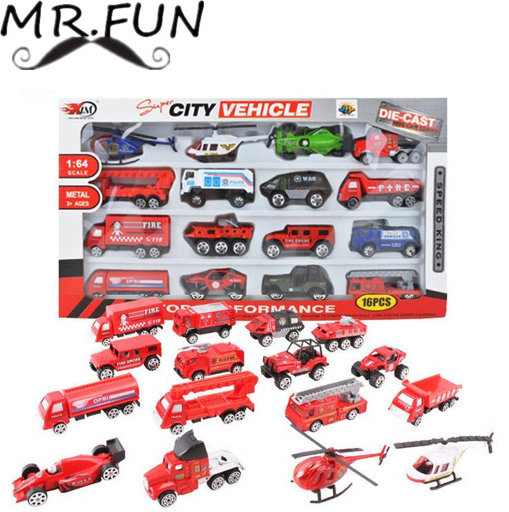 Educational baby toy multi color Metal Fire engine truck set car Model kids toys hot wheels train brinquedos juguetes subaru(China (Mainland))