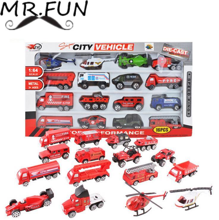 Educational baby toy multi color Metal Fire engine truck set car Model kids toys hot wheels train brinquedos juguetes subaru(China (Mainland))