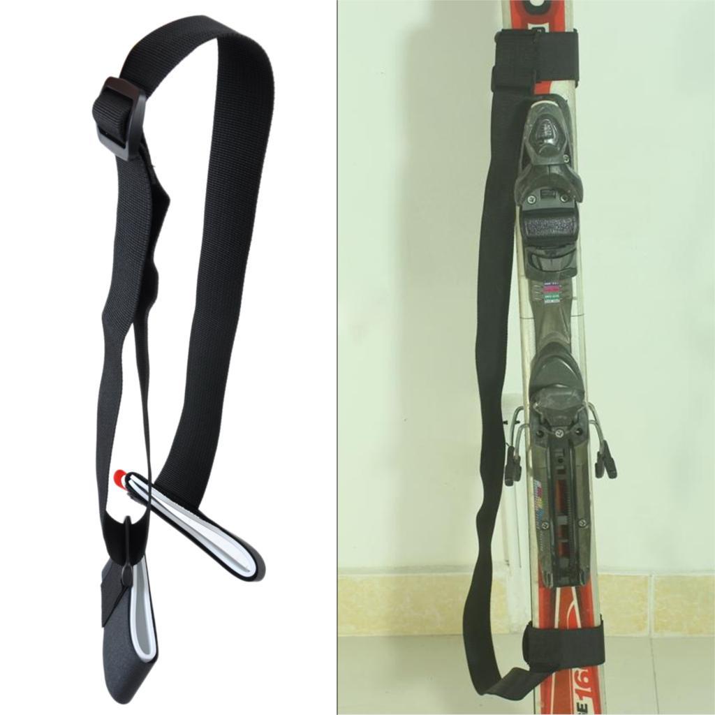New Adjustable Ski Pole Snowboard Velcro Strap Carrier Hand Shoulder Lash Porter for cross snow sled Skiing skiboard protection(China (Mainland))