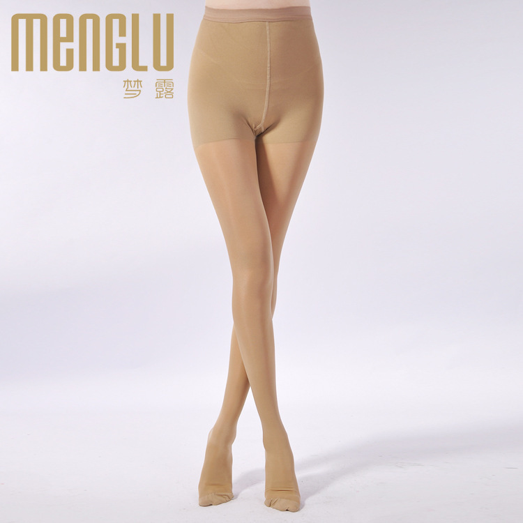 women silk 180D medical burn fat tight Open Toe Compression Pantyhose(China (Mainland))