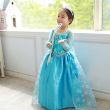 High Quality Girl Dresses Princess Children Clothing Anna Elsa Cosplay Costume Kid's Party Dress Baby Girls Clothes(China (Mainland))