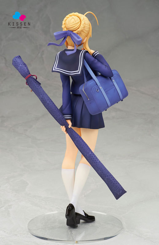 Kissen ALTER Fate Stay Night Anime School Uniform Ver Saber 20cm PVC Action Figure Fan Collection Cartoon Model Plastic Toy(China (Mainland))