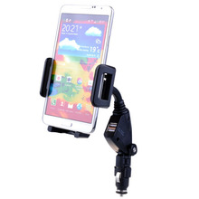 Dual USB Car Charger Cradle Cigarette Lighter Holder For Samsung Galaxy S5 S4 S3 S2 Note 4 3 2 Dual USB Car Charger Holder #DA(China (Mainland))