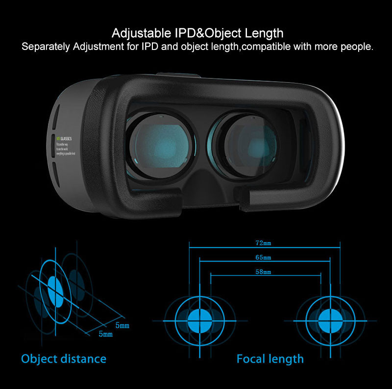 VR BOX 2.0 Virtual reality goggles Smartphone 3D VR Glasses For 3.5 – 6.0 inch 4.7 5.5 6.0 for iPhone+Wireless Bluetooth Gamepad