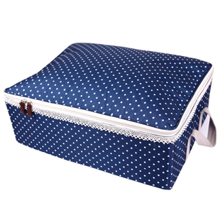 Light blue square clothing storage box finishing box home supplies storage box storage box