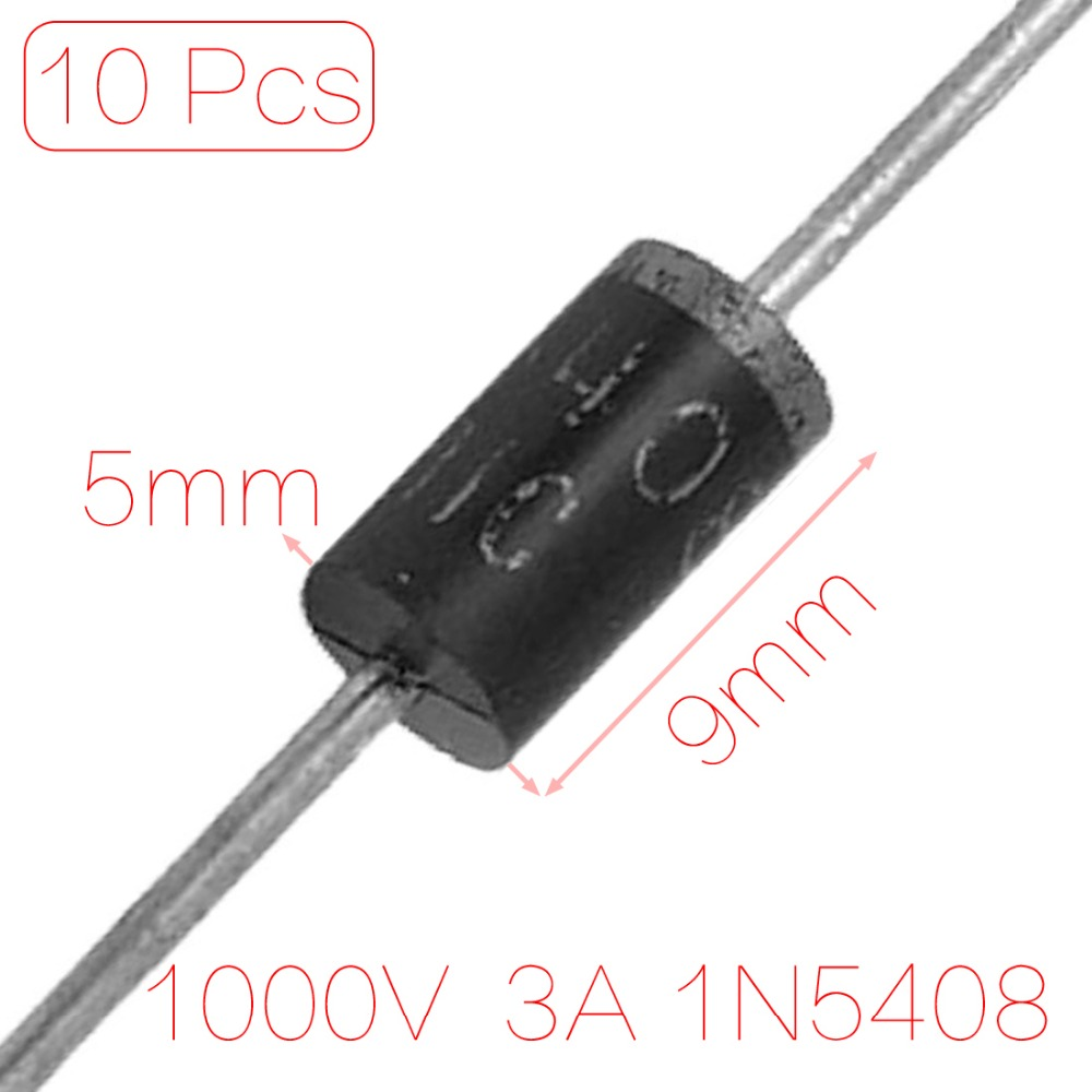 10 Pcs 1N5408 1000V 3A Axial Lead High Voltage Rectifier Diode Discount 70(China (Mainland))