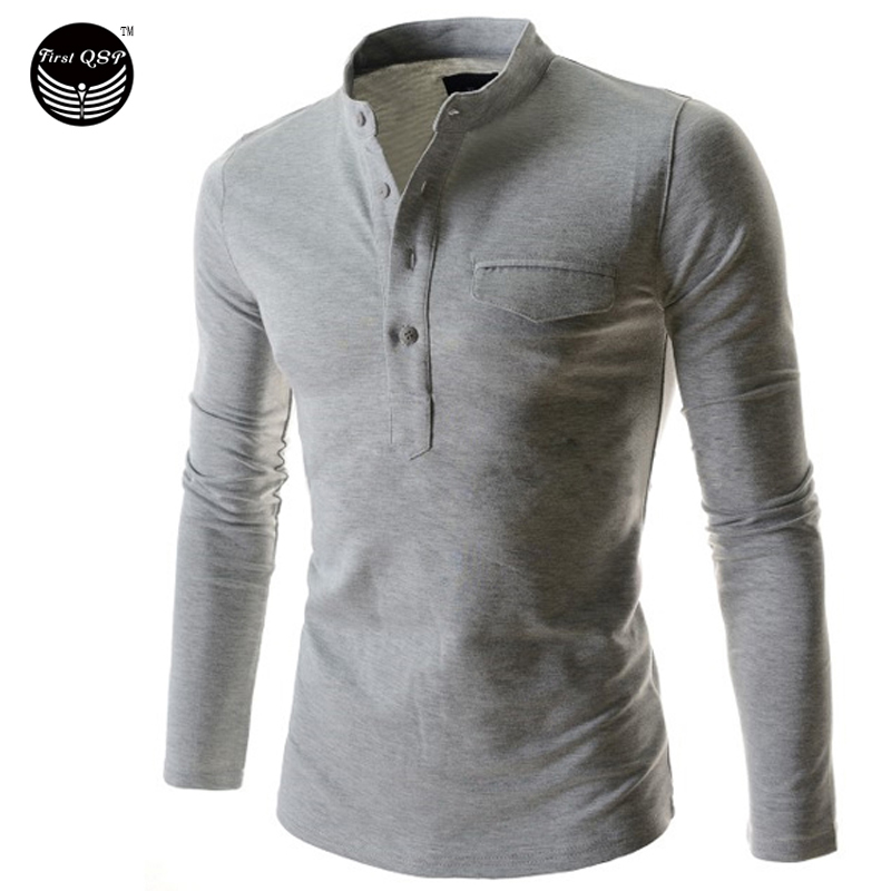 Mens Polo Shirt Brands 2017 Male Long Sleeve Fashion Casual Slim Vertical Collar Cardigan Polos Men Jerseys Q