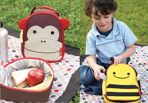 2014 New Senior Zoo Thermal Tourism Lunch Bags for Kids Children Cute Baby Outdoor Travel Box Thermo Lunchbox Picnic Cooler Bag(China (Mainland))