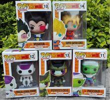 16cm 2016 new Free Shipping Anime funko pop robot Dragon Ball Z Super Saiyan Son Goku PVC Action Figure kids Collectible Toys