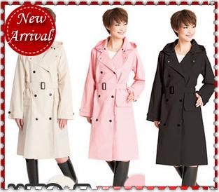 Japan Raincoat Plastic Jacket Womens Long Raincoats font b burberry b font Female Trench Raincoat with
