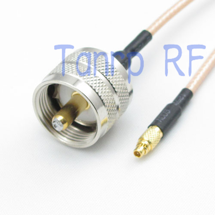 6in MMCX male plug to UHF male PL259 plug RF adapter connector 15CM Pigtail coaxial jumper cable RG316 extension cord<br><br>Aliexpress