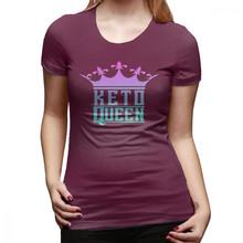 נמוך פחמימות חולצה קטו מלכת כתר גרפי Ketosis דיאטה הצלחה T חולצת קיץ מצחיק נשים חולצת טי בתוספת גודל גבירותיי טי חולצה(China)