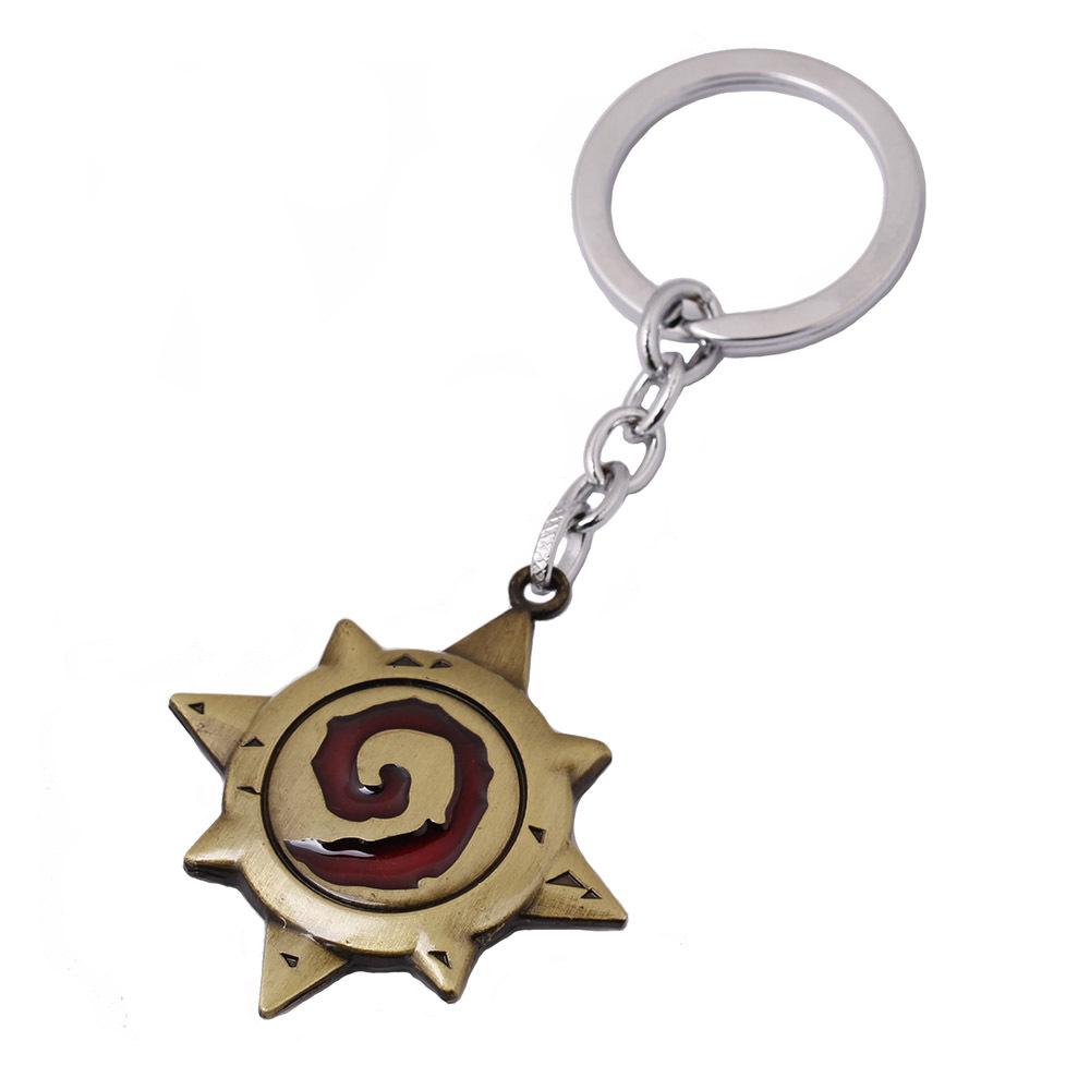 Anime Game Hearths Stone Logo Metal Key Chain for Men Friendship Keychains Key Holder Chaveiros Porte Clef Bijoux Male(China (Mainland))