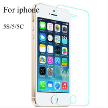 For iPhone5 protective Film Glass 0.3mm 9H 2.5D Clear Explosion proof Tempered Glass Screen Protector For iPhone 5 5C 5S Guard