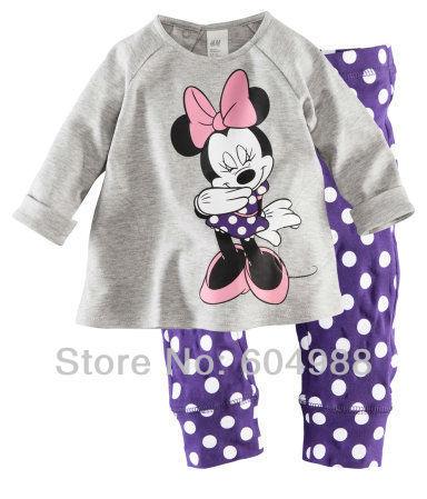 New Baby Sleepwear suits Shirts + pants girl's long sleeve Underwears sets Girls' Nightwear suit