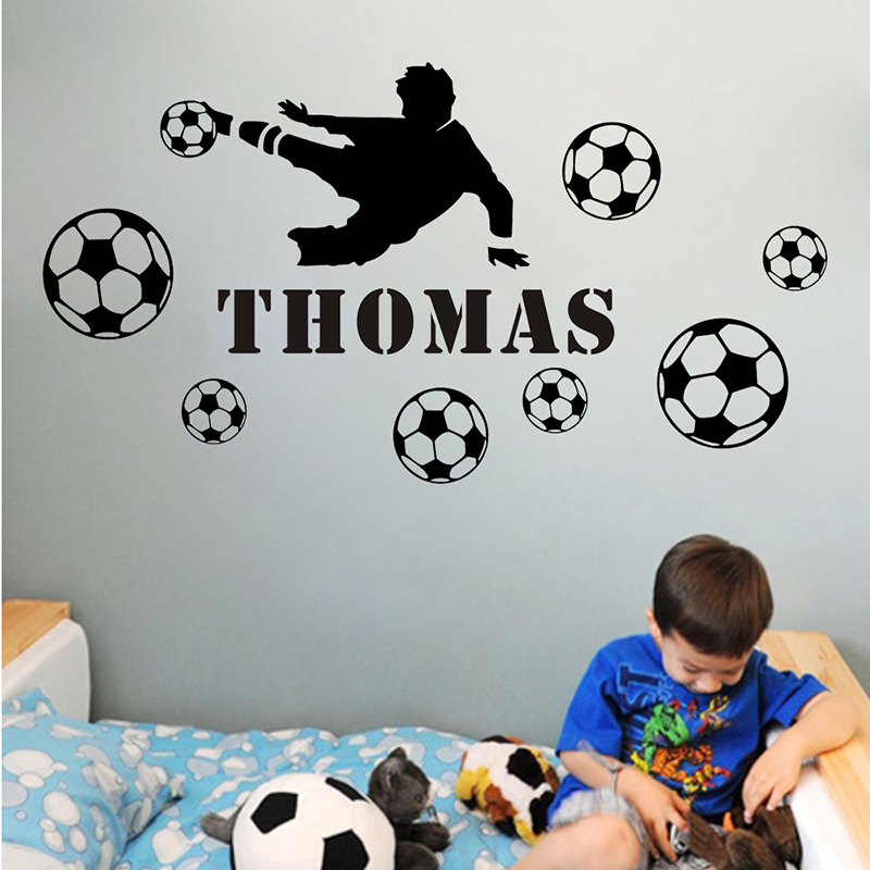 2016 Shooting Boy Diy Personalized Name Wall Sticker