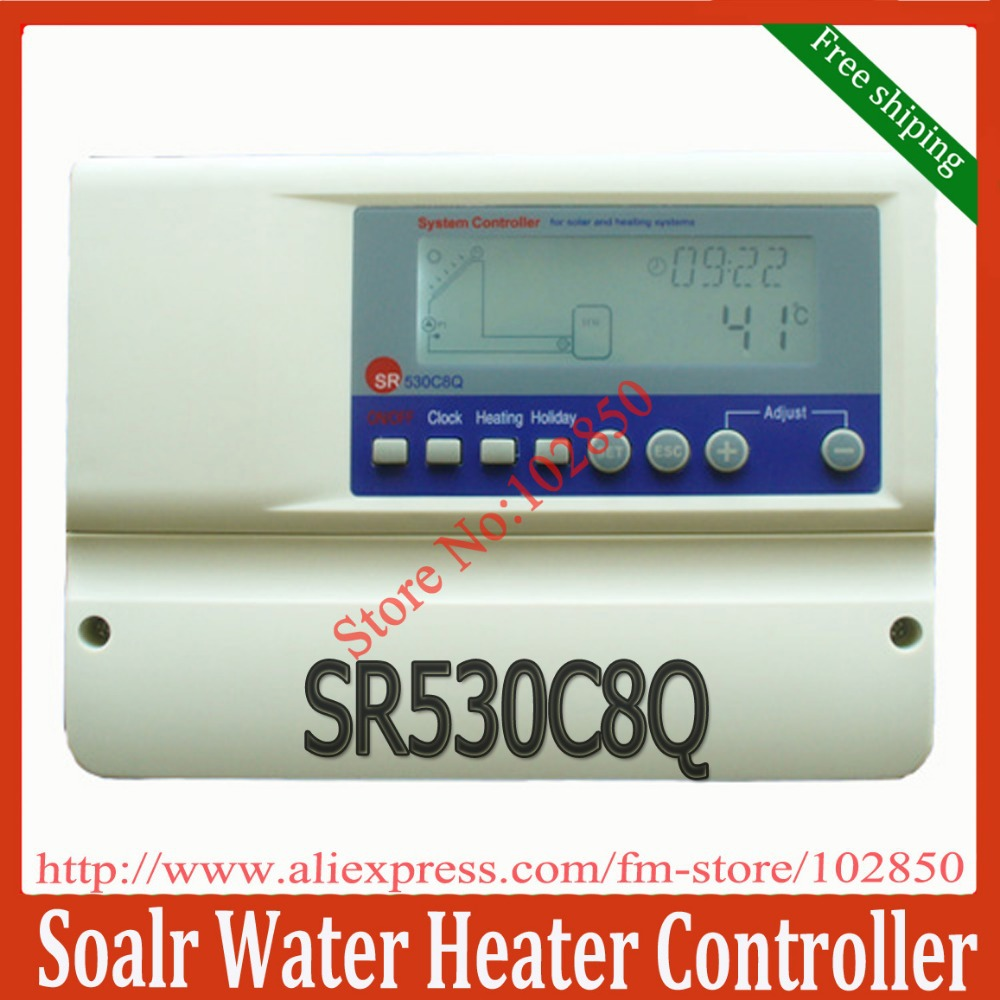 intelligent solar water heater controller SR530C8Q,lcd display solar thermal controller for split solar heating system(China (Mainland))