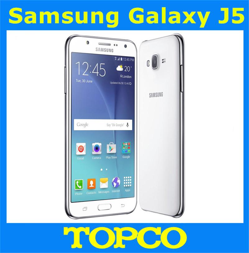 "Samsung Galaxy J5 Original Unlocked Android Mobile Phone Quad-core 1.5GB RAM 3G&4G GSM 5.0"" 13MP 16GB WIFI(China (Mainland))"