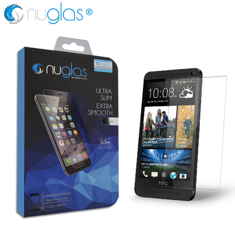 Premium Tempered Glass Screen Protector for HTC One M7 Case Cover Capinha Coque HTC M7 Phone lcd Film Luxury Nuglas Brand(China (Mainland))
