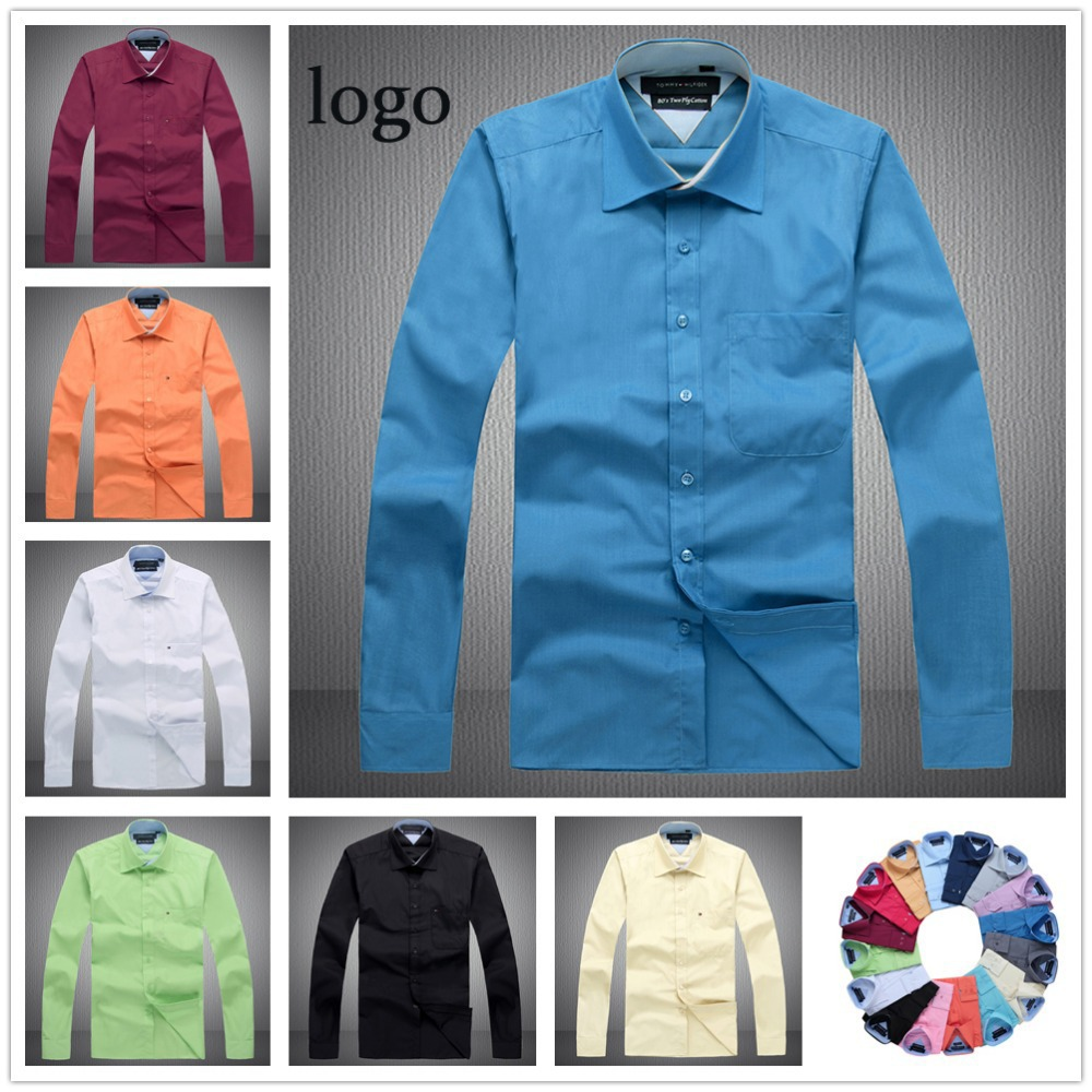 high quality brand Clothing 100% cotton men dress shirt 2014 Spring and Autumn men's casual long sleeve slim fit social shirts(China (Mainland))