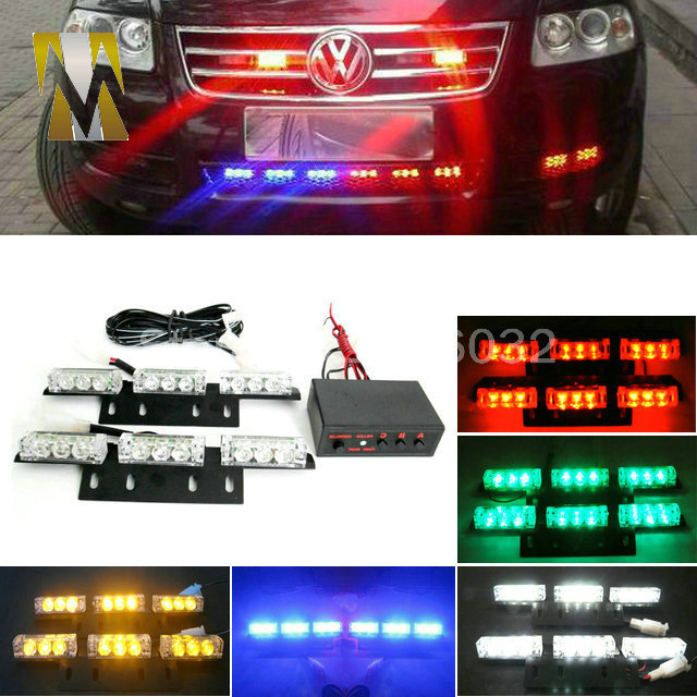 2x9 led 18led grille flash car light strobe flash warning. Black Bedroom Furniture Sets. Home Design Ideas