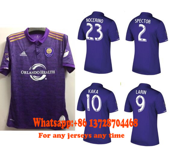Free shippping soccer jerseys ORLANDO CITY purple Soccer Jersey Thai quality 2017 2018 17/18 Football Shirt(China (Mainland))