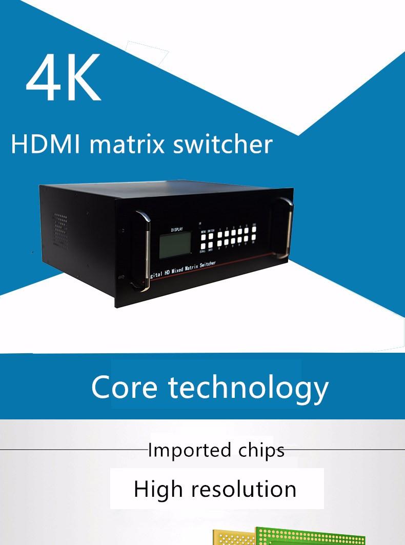 Folaida 4K x 2K 24X24 HDMI матричный коммутатор вставная карта HDMI/DVI 1080P видео RS232 ИК пульт 2