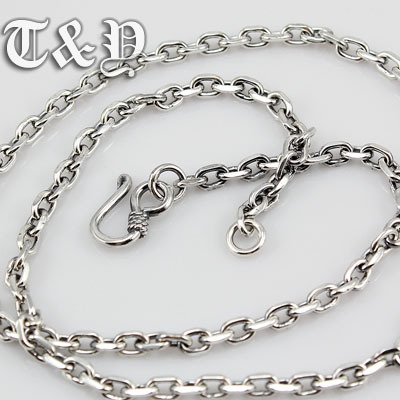 T & y silver pure silver 925 necklace 4mm million word-chain thai silver fashion male necklace(China (Mainland))